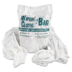 General Supply Bag-A-Rags Reusable Wiping Cloths, Cotton, White, 1lb Pack