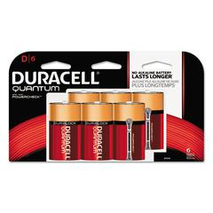 Quantum Alkaline Batteries w/Duralock Power Preserve Technology, D, 1.5V, 6/Pk