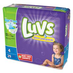 Diapers, Size 4: 22 to 37 lbs, 29/Pack, 4 Pack/Carton