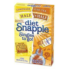diet Snapple Iced Tea Singles To-Go, Diet Lemonade/Iced Tea, 0.61 oz Stick, 72 sticks