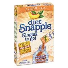 Iced Tea Singles To-Go, Diet Peach Tea, 0.68 oz Stick, 72 sticks