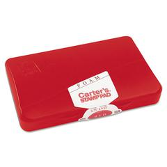 Carter's Foam Stamp Pad, 4 1/4 x 2 3/4, Red