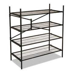 Instant Storage Shelving Unit, 4 Shelves, 42 3/4 x 20 3/4 x 47 3/4, Black