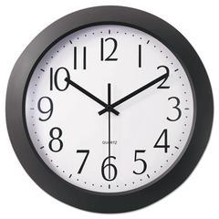 """Whisper Quiet Clock, 12"""", Black"""