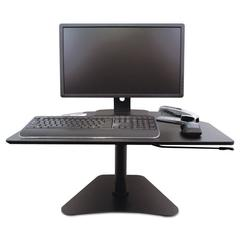 High Rise Adjustable Stand-Up Desk, 28 x 23 x 16 3/4, Black