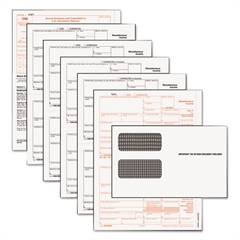 1099-MISC Tax Form Kits, 8 x 5 1/2, 5-Part, Inkjet/Laser, 24 1099s & 1 1096
