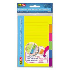 Index Sticky Notes, 4 x 6, Ruled, Assorted Colors, 60-Sheet Pad
