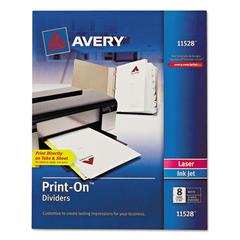 Avery Customizable Print-On Dividers, 8-Tab, Letter