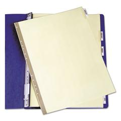 Avery Insertable Clear Tab Dividers for Data Binders, 6-Tab, 14 7/8 x 11