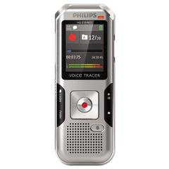 Philips Voice Tracer 4000 Digital Recorder, 4 GB, Silver Shadow/Chrome