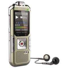 Philips Voice Tracer 6500 Digital Recorder, 4 GB Memory, Gold
