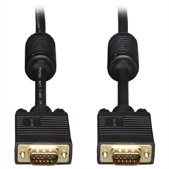 Tripp Lite VGA Coax Monitor Cables, 50 ft, Black, HD15 Male; HD15 Male