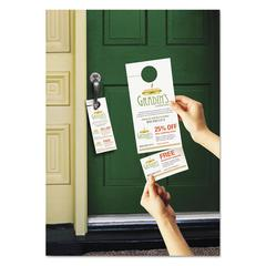 Avery Door Hanger w/Tear-Away Cards, 4 1/4 x 11, Matte White, 10/Sheet, 40 Sheets/Pack