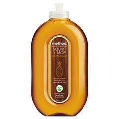 Method Squirt + Mop Wood Floor Cleaner, Almond Scent, 25 oz Squirt Bottle