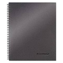 Side Bound Guided Business Notebook, 11 x 9 1/4, Metallic Titanium, 80 Sheets
