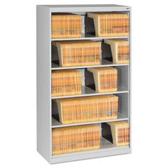 Open Fixed Shelf Lateral File, 36w x 16 1/2d x 63 1/2, Light Gray