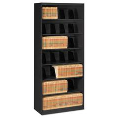 Open Fixed Shelf Lateral File, 36w x 16 1/2d x 87h, Black