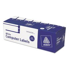 Dot Matrix Mailing Labels, 1 Across, 15/16 x 3, White, 5000/Box