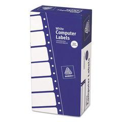Avery Dot Matrix Mailing Labels, 1 Across, 15/16 x 5, White, 5000/Box