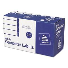 Dot Matrix Mailing Labels, 1 Across, 1 15/16 x 4, White, 5000/Box