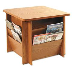 Buddy Products Reception Tables, Square, 23-1/4w x 23-1/4d x 21h, Medium Oak