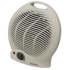 Compact Electric Fan-Forced Heater, Off-White, 1500W, 9 1/8 x 5 5/8 x 10 5/8