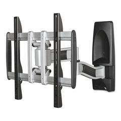 BALT HG Articulating Flat Panel Wall Mounts, 19w x 22d x 17 3/4h, Silver/Black
