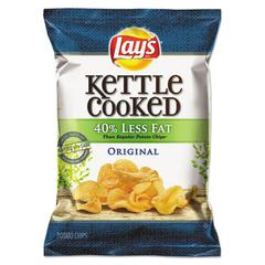 Lay's Kettle Cooked Original Chips, 1.375 oz Bag, 64/Carton