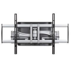 BALT HG Articulating Flat Panel Wall Mounts, 34 1/4w x 21d x 20h, Silver/Black