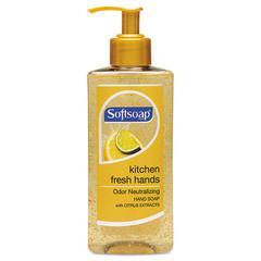 Kitchen Fresh Hands Soap, Citrus Scent, 10 oz Pump Bottle, 6/Carton