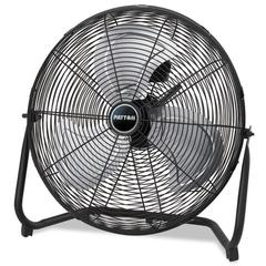 "Patton High Velocity Fan, Three-Speed, Black, 24 1/2""W x 8 5/8""H"