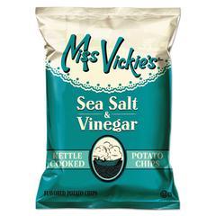 Kettle Cooked Sea Salt & Vinegar Potato Chips, 1.375 oz Bag, 64/Carton