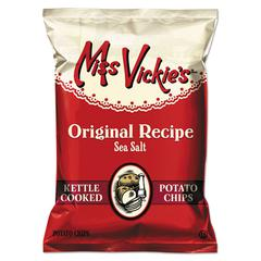 Miss Vickie's Kettle Cooked Sea Salt Potato Chips, 1.375 oz Bag, 64/Carton