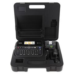 PT-D600VP PC-Connectable Label Maker with Color Display and Carry Case, Black