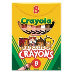 Multicultural Crayons, 8 Skin Tone Colors/Box