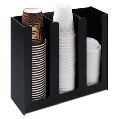 Vertiflex Commercial Grade Cup Holder, 12 3/4w x 4 1/2d x 11 3/4d, Black
