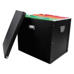 Advantus File Box, 16 x 13 x 13 1/2, Letter/Legal, Paperboard, Black