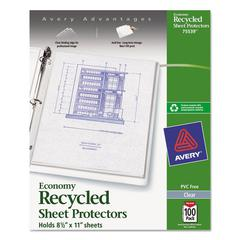 Top-Load Recycled Polypropylene Sheet Protector, Clear, 100/Box