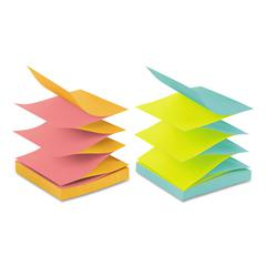 Post-it Original Pop-up Refill, Alternating Cape Town Colors, 3 x 3, 100-Sheet, 12/Pack