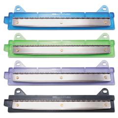 "McGill 6-Sheet Binder Three-Hole Punch, 1/4"" Holes, Assorted Colors"