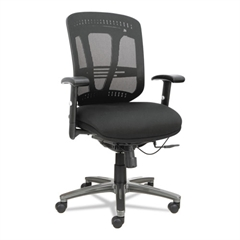 Eon Series Multifunction Wire Mechanism, Mid-Back Mesh Chair, Black