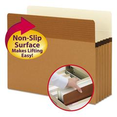 """Smead Easy Grip Pockets, Redrope, Letter, 5 1/4"""" Exp, 10/Box"""