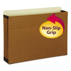 "Easy Grip File Pocket, Legal, 3 1/2"" Exp., Redrope, 25/Box"