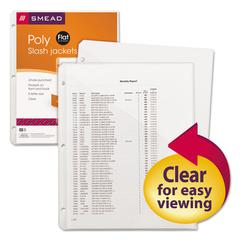 Smead Organized Up Poly Slash Jackets, Letter, Polypropylene, Clear, 5/Pack