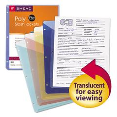 Organized Up Poly Slash Jackets, Letter, Assorted, 5/Pack