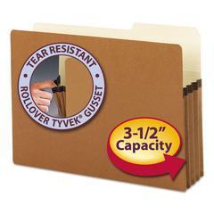 """Smead 3 1/2"""" Exp Pocket, 2/5 Tab, Legal, Manila/Redrope, 25/Box"""