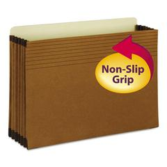 "Easy Grip File Pocket, Legal, 5 1/4"" Exp., Redrope, 10/Box"