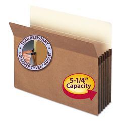"5 1/4"" Exp Pocket, Straight Tab, Letter, Manila/Redrope, 10/Box"