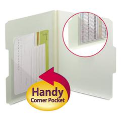 Smead Self-Adhesive Poly Corner Pockets, Clear, 4x4, 100/Box