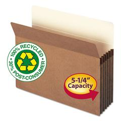 Smead 100% Recycled Pocket, 5 1/4 Inch Exp, Letter, Redrope, 10/Box